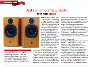 "ATC SCM 19 - What Hi Fi? Sound and Vision Awards 2015 - ""Best standmounter £1200+"""