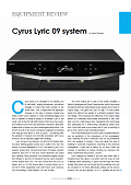 Cyrus Lyric 09 - Hi-Fi + review