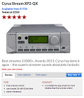 CYRUS Stream XP2 Qx - Best streamer £2000+, Awards 2013