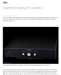 Dayens Ecstasy III Custom Integrated - HiFi Statement reveiw