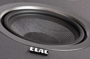 ELAC Debut Midbass: 5.25-inch woven aramid-fiber cone with oversized magnet and vented pole piece