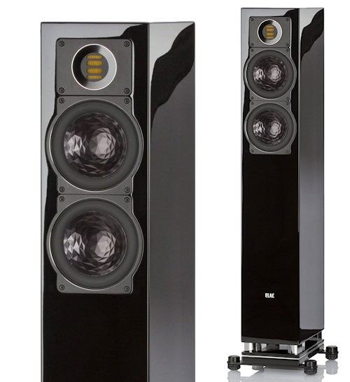 ELAC FS 407 black high gloss finish