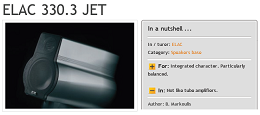 ELAC 330.3 JET - High Fidelity (Greece) review