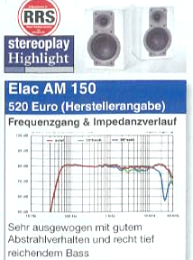 ELAC AM 150 Stereoplay (Germany) review cover 2