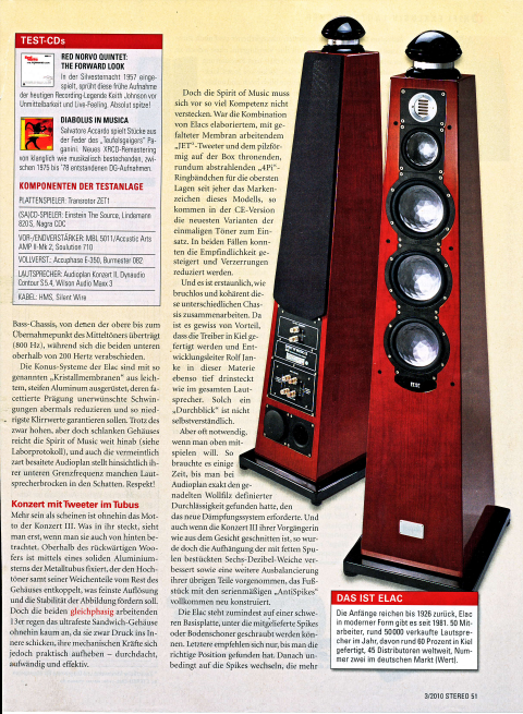 "ELAC BS 184 - AUDIO review: ""Balanced-clear, very dynamic and enormously alive playing loudspeaker."""